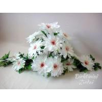 Gėlių padėklas-puokštė su atlasiniais jurginais, balta sp., G1546PA