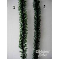 Dekoratyvinė eglės virvė 1 m. žalia sp. su žalsvai galais Nr1, GW6048