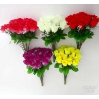 G1295 Rožės šakelė 20 vnt, 30 cm, 5 spalvos