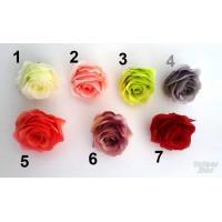 G1430 Rožės pumpuras, 8 spalvos, skersmuo ir aukstis 7.5 cm