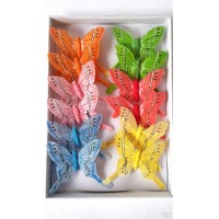 GW1004 Dekoratyviniai drugeliai 12 vnt