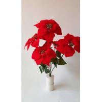 G1457 rozes ziedas raudonas, sk 9 cm., aukst 7 cm