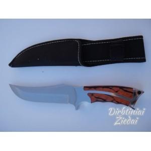 Peilis medžioklinis ruda rankena UV507
