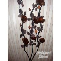 Šaka su žiedais iš medžio, ruda sp., G1277