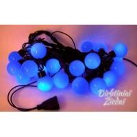 N1081 LED girlianda burbulai (skersmuo 4 cm) 5 m. 20 LED, mėlynai, jungiasi
