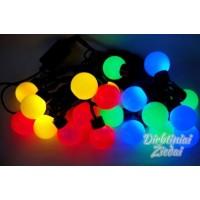 N1080 LED girlianda burbulai (skersmuo 4 cm) 5 m. 20 LED, spalvoti, jungiasi