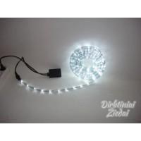 N1103 El. girl. laidas, LED, 10 m., 2-jų linijų, balta