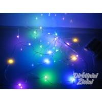 LED laidelis su baterijomis, spalvotas, 20 LED, 2 m., N7079